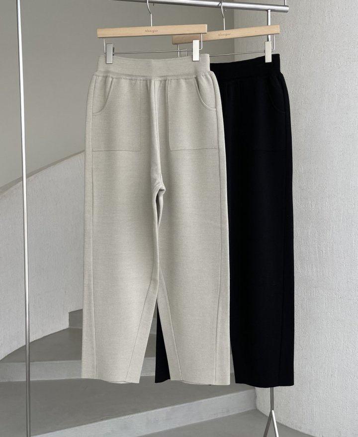 AFTERGLOW - Korean Women Fashion - #Kfashion - Slit Knit Pants - 2