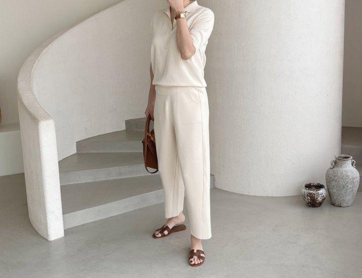 AFTERGLOW - Korean Women Fashion - #Kfashion - Slit Knit Pants - 3