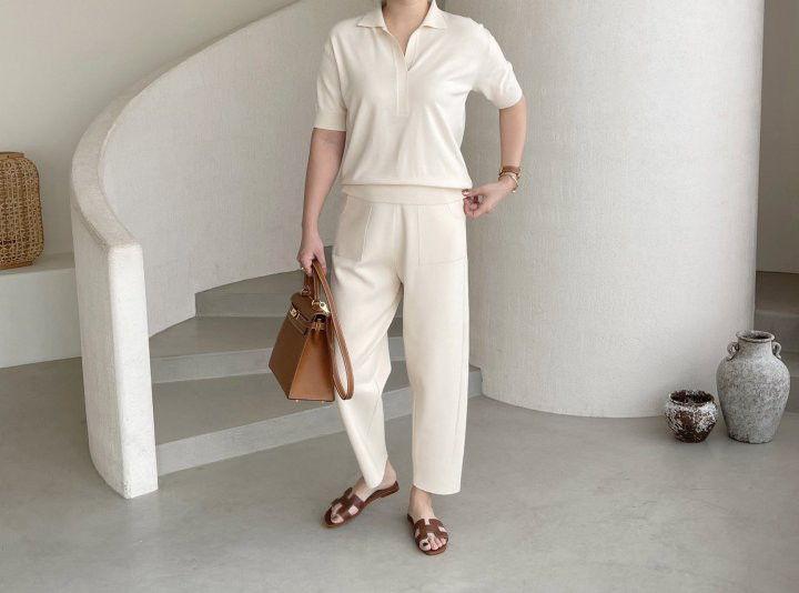 AFTERGLOW - Korean Women Fashion - #Kfashion - Slit Knit Pants - 4