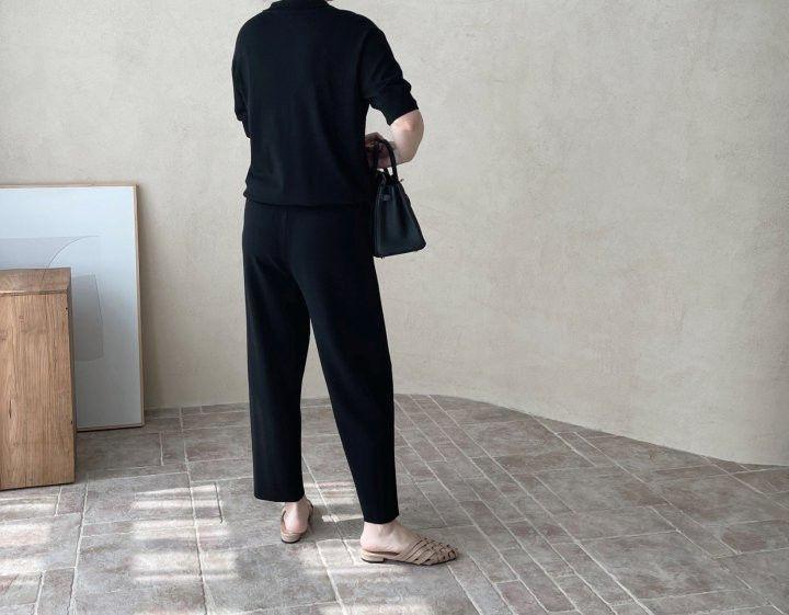 AFTERGLOW - Korean Women Fashion - #Kfashion - Slit Knit Pants - 9