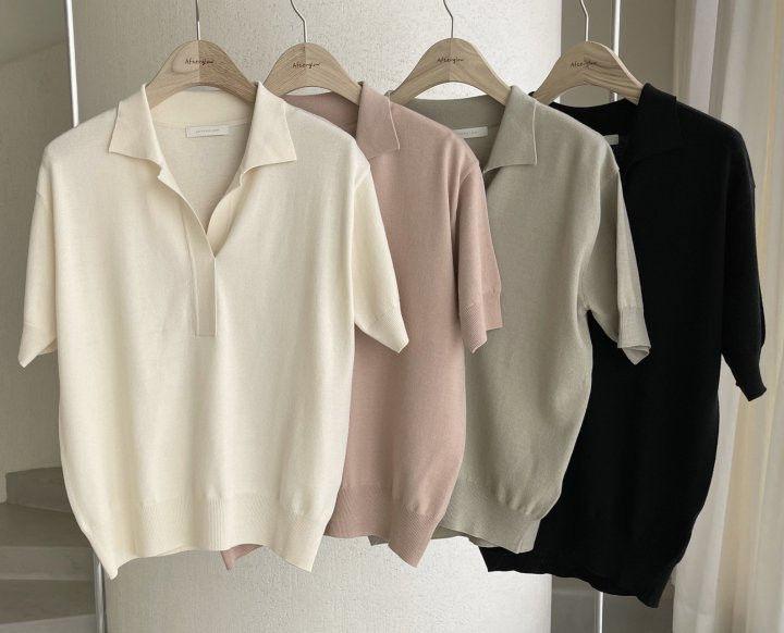 AFTERGLOW - Korean Women Fashion - #Kfashion - Namoo Collar Knit Pullover
