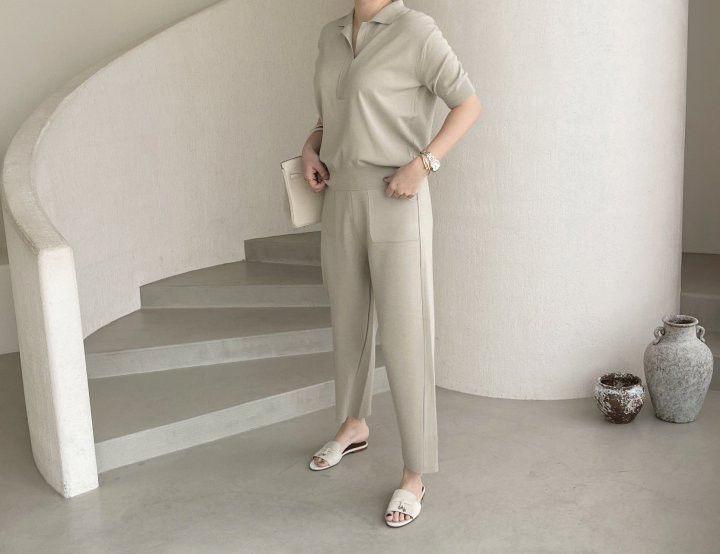 AFTERGLOW - Korean Women Fashion - #Kfashion - Namoo Collar Knit Pullover - 10