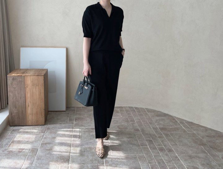 AFTERGLOW - Korean Women Fashion - #Kfashion - Namoo Collar Knit Pullover - 12