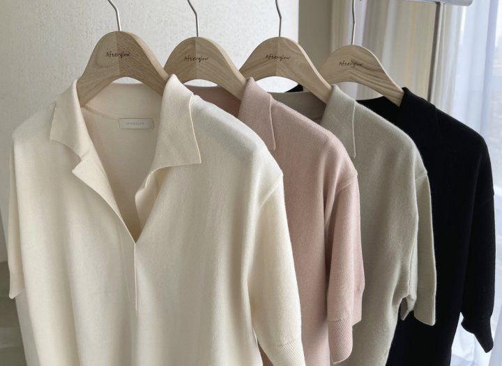AFTERGLOW - Korean Women Fashion - #Kfashion - Namoo Collar Knit Pullover - 2