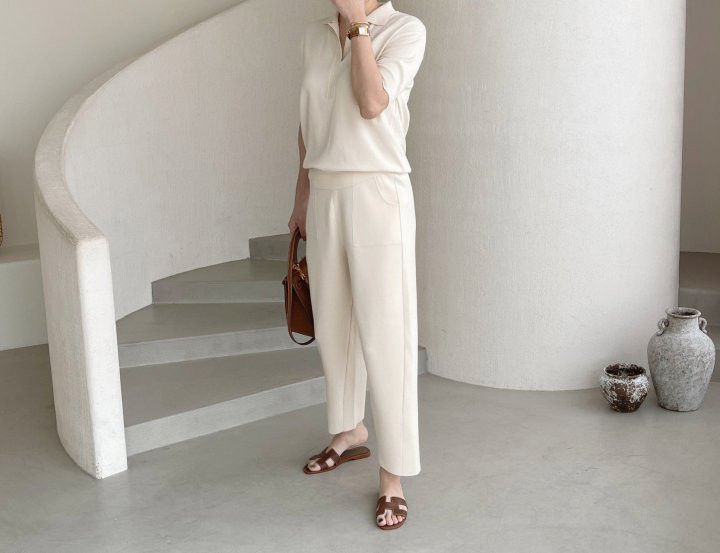 AFTERGLOW - Korean Women Fashion - #Kfashion - Namoo Collar Knit Pullover - 3