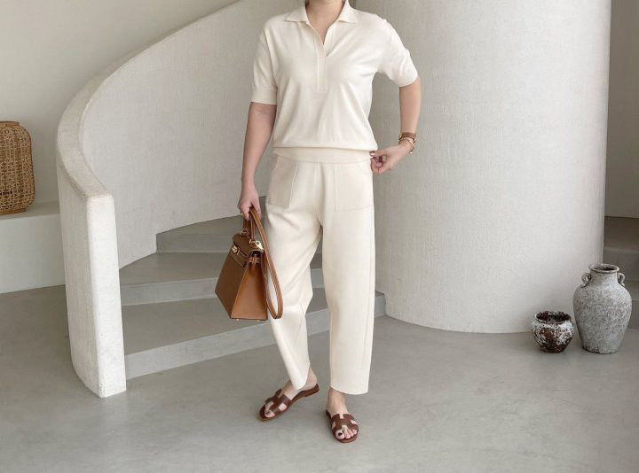 AFTERGLOW - Korean Women Fashion - #Kfashion - Namoo Collar Knit Pullover - 4