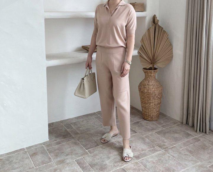 AFTERGLOW - Korean Women Fashion - #Kfashion - Namoo Collar Knit Pullover - 5