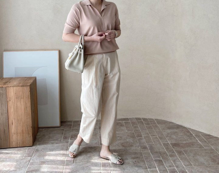 AFTERGLOW - Korean Women Fashion - #Kfashion - Namoo Collar Knit Pullover - 6