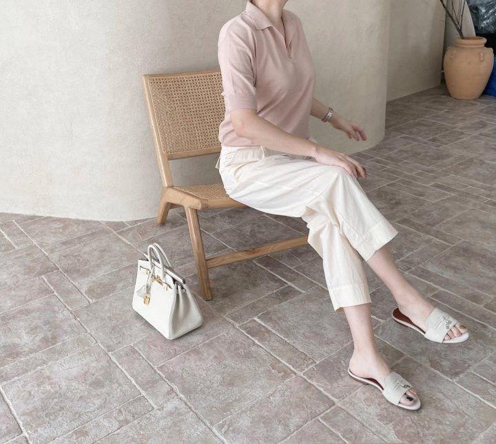AFTERGLOW - Korean Women Fashion - #Kfashion - Namoo Collar Knit Pullover - 7