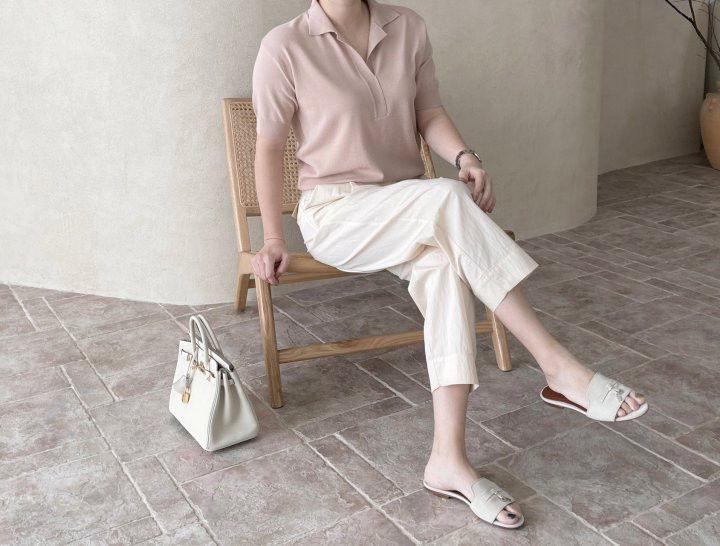 AFTERGLOW - Korean Women Fashion - #Kfashion - Namoo Collar Knit Pullover - 8