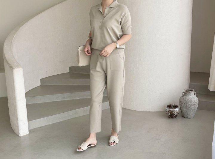 AFTERGLOW - Korean Women Fashion - #Kfashion - Namoo Collar Knit Pullover - 9