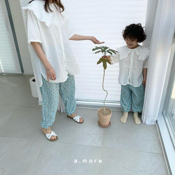 AMORE - Korean Children Fashion - #Kfashion4kids - Mom Floral Pants - 4