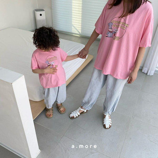 AMORE - BRAND - Korean Children Fashion - #Kfashion4kids - Mom Fat Person Tee