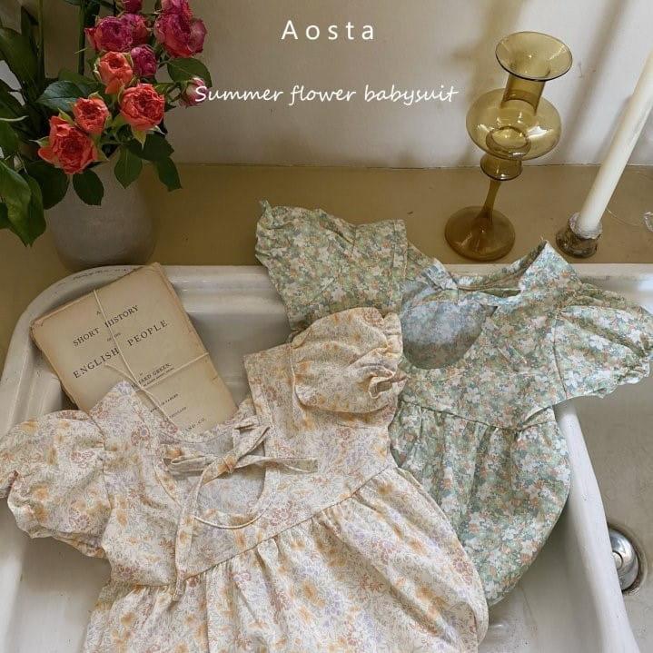 AOSTA - Korean Children Fashion - #Kfashion4kids - Garden Lunch Bodysuit