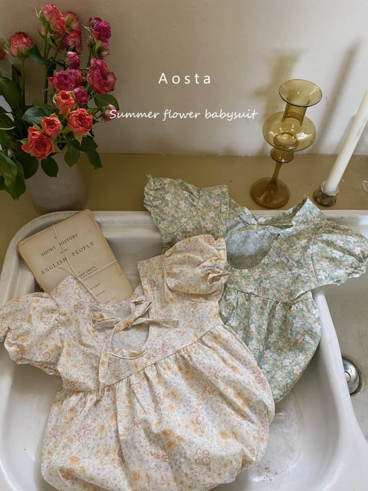 AOSTA - Korean Children Fashion - #Kfashion4kids - Garden Lunch Bodysuit - 12