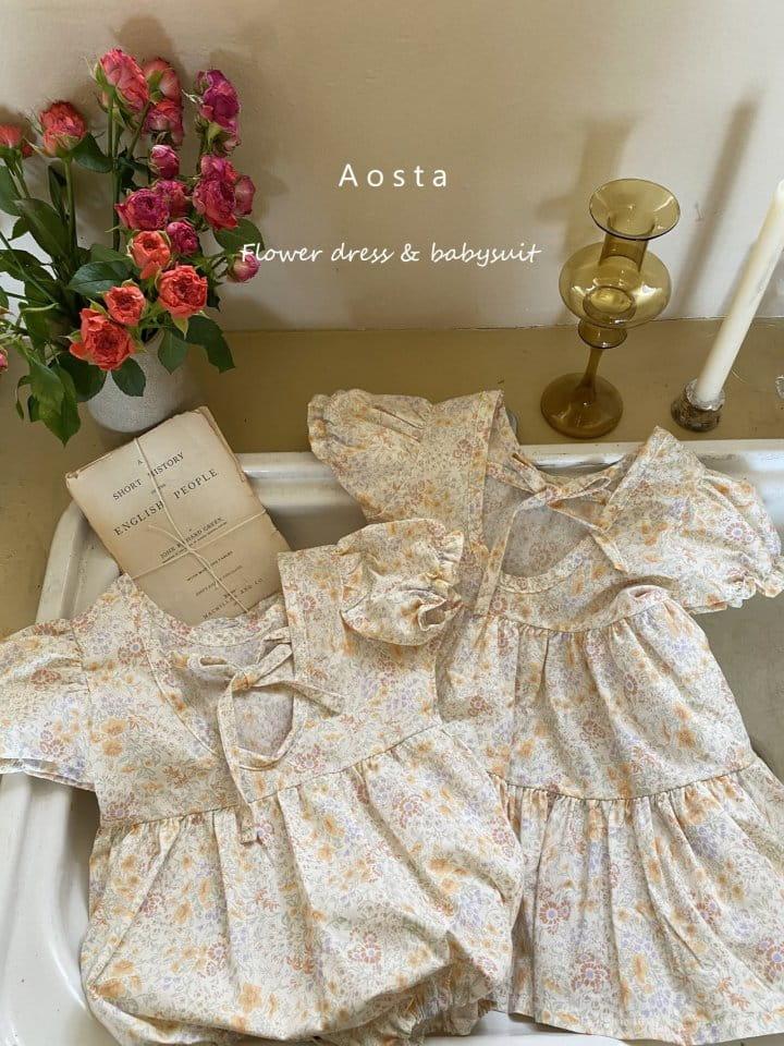 AOSTA - Korean Children Fashion - #Kfashion4kids - Garden Lunch Bodysuit - 5