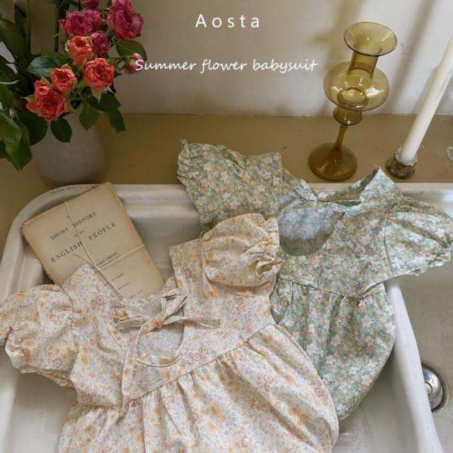 AOSTA - BRAND - Korean Children Fashion - #Kfashion4kids - Garden Lunch Bodysuit