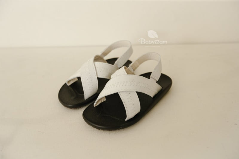 BABYZZAM - Korean Children Fashion - #Kfashion4kids - Sheepskin Cross Sandals - 10