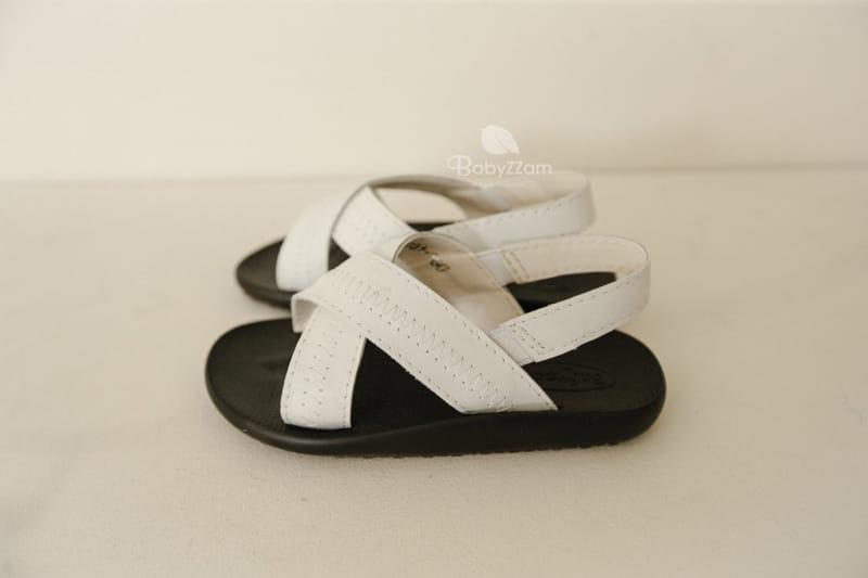 BABYZZAM - Korean Children Fashion - #Kfashion4kids - Sheepskin Cross Sandals - 11