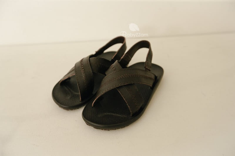 BABYZZAM - Korean Children Fashion - #Kfashion4kids - Sheepskin Cross Sandals - 6