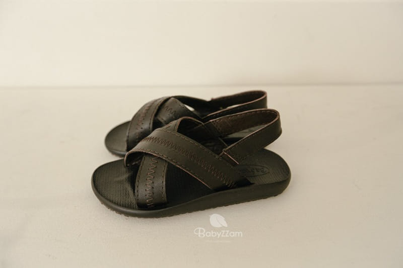BABYZZAM - Korean Children Fashion - #Kfashion4kids - Sheepskin Cross Sandals - 7