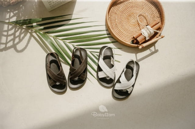 BABYZZAM - BRAND - Korean Children Fashion - #Kfashion4kids - Sheepskin Cross Sandals