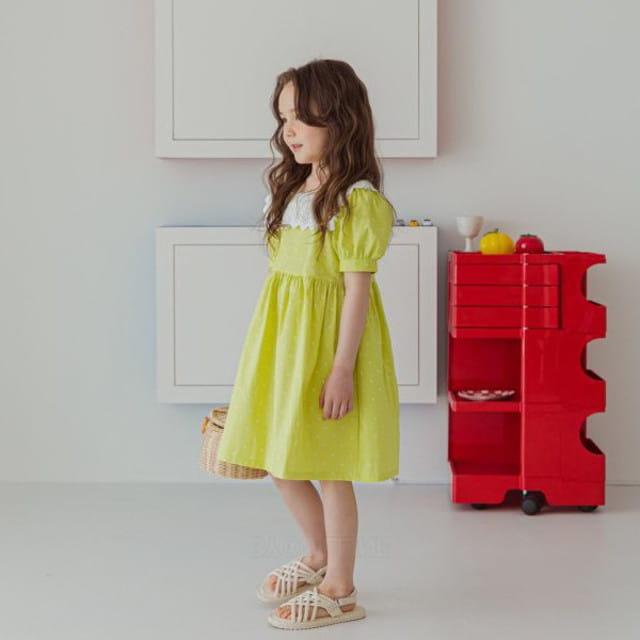 BERRY BERRY - BRAND - Korean Children Fashion - #Kfashion4kids - Dots One-piece