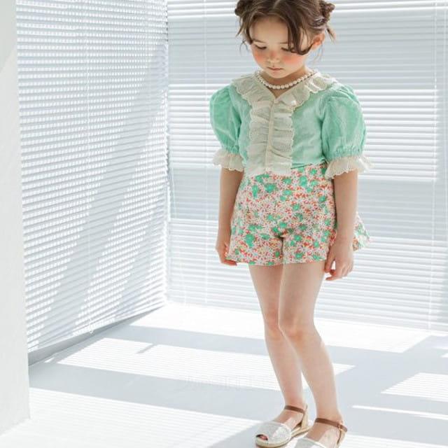 BERRY BERRY - BRAND - Korean Children Fashion - #Kfashion4kids - Flower Shorts