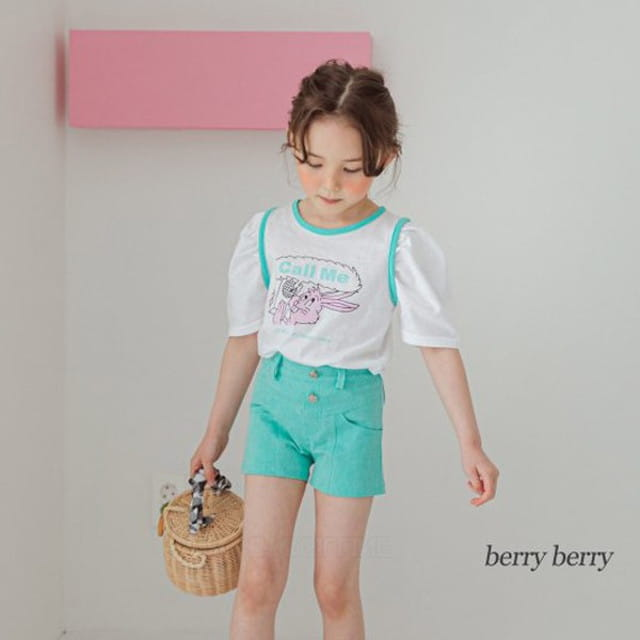 BERRY BERRY - BRAND - Korean Children Fashion - #Kfashion4kids - Rabbit Rabbit Tee