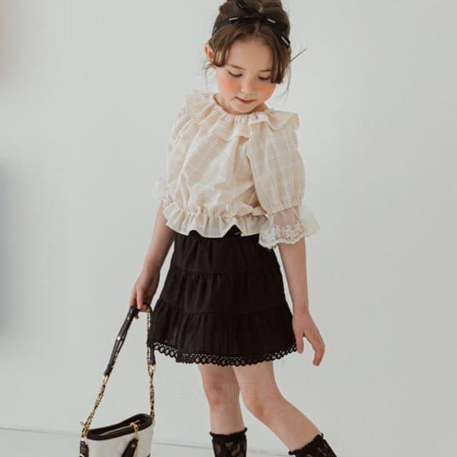 BERRY BERRY - BRAND - Korean Children Fashion - #Kfashion4kids - Check Blouse