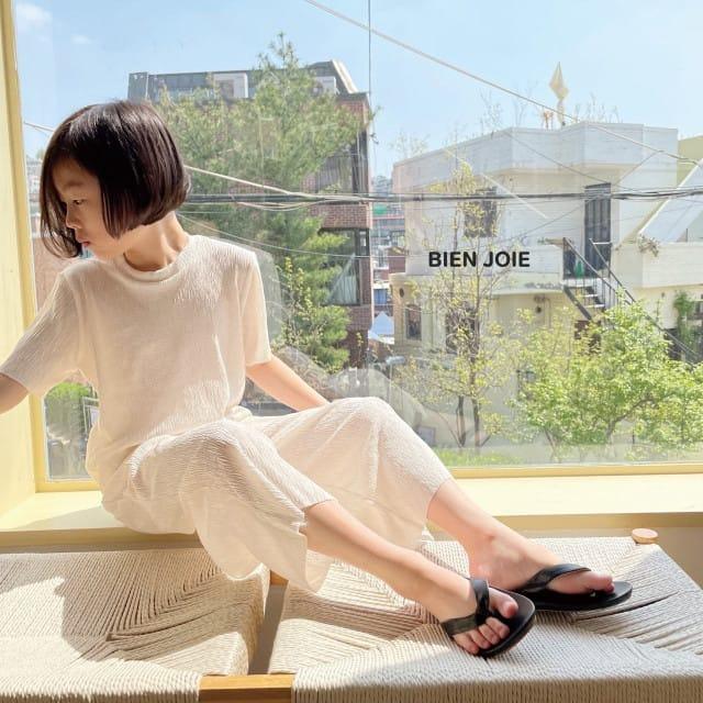 BIEN JOIE - BRAND - Korean Children Fashion - #Kfashion4kids - El Top Bottom Set