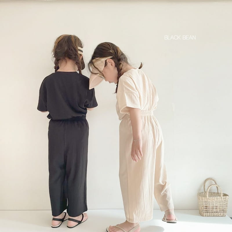 BLACK BEAN - Korean Children Fashion - #Kfashion4kids - Mom Cool Top Bottom Set - 12