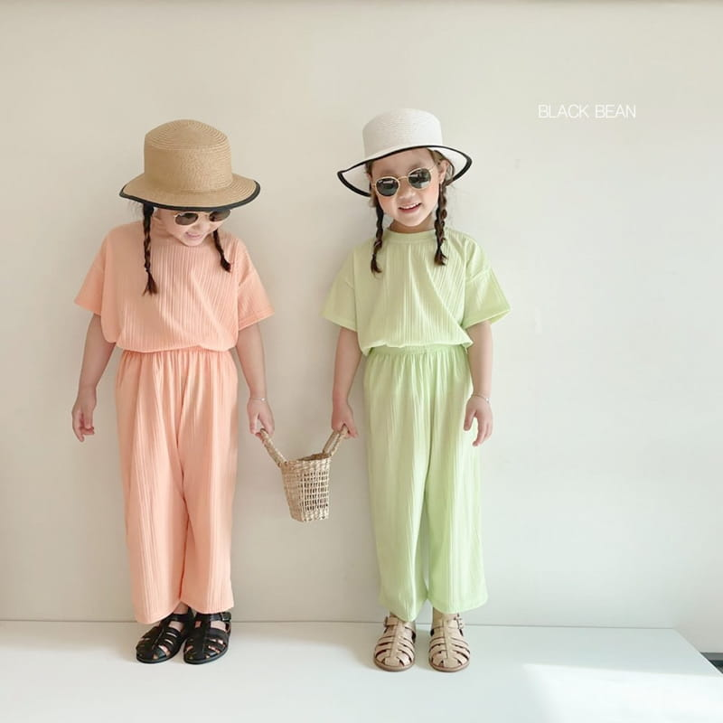 BLACK BEAN - Korean Children Fashion - #Kfashion4kids - Mom Cool Top Bottom Set - 7
