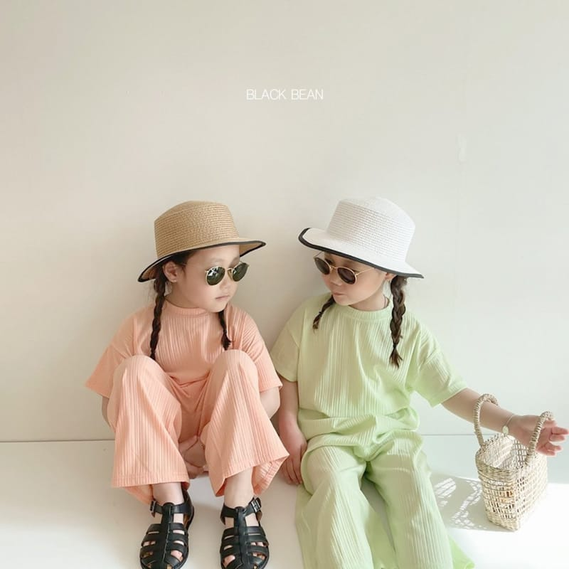 BLACK BEAN - Korean Children Fashion - #Kfashion4kids - Mom Cool Top Bottom Set - 8