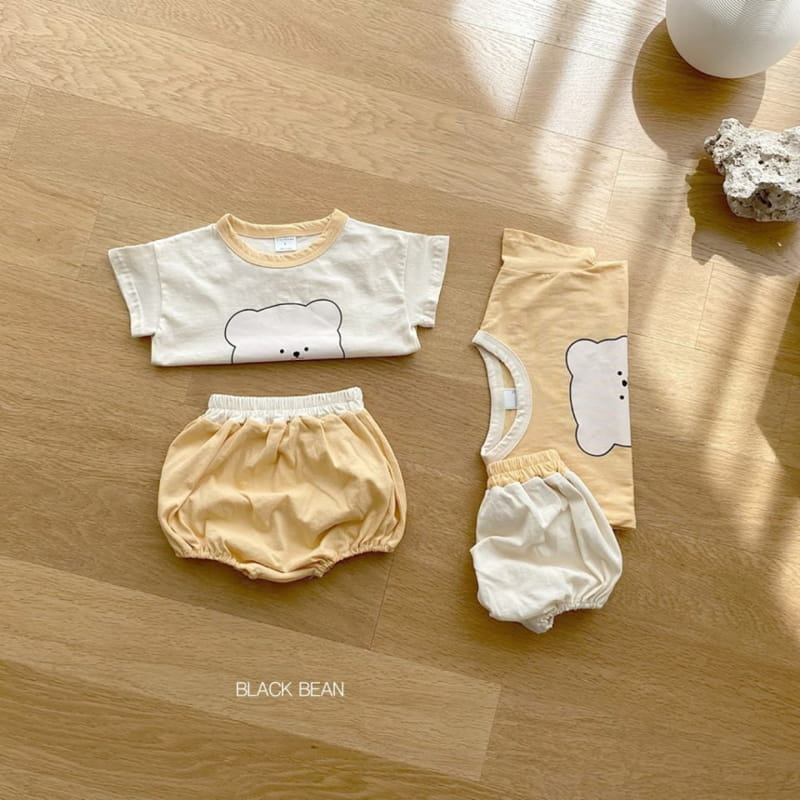 BLACK BEAN - Korean Children Fashion - #Kfashion4kids - Teddy Bebe Top Bottom Set - 3