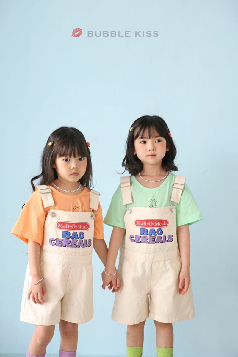 BUBBLE KISS - Korean Children Fashion - #Kfashion4kids - Cereal Dungarees Pants