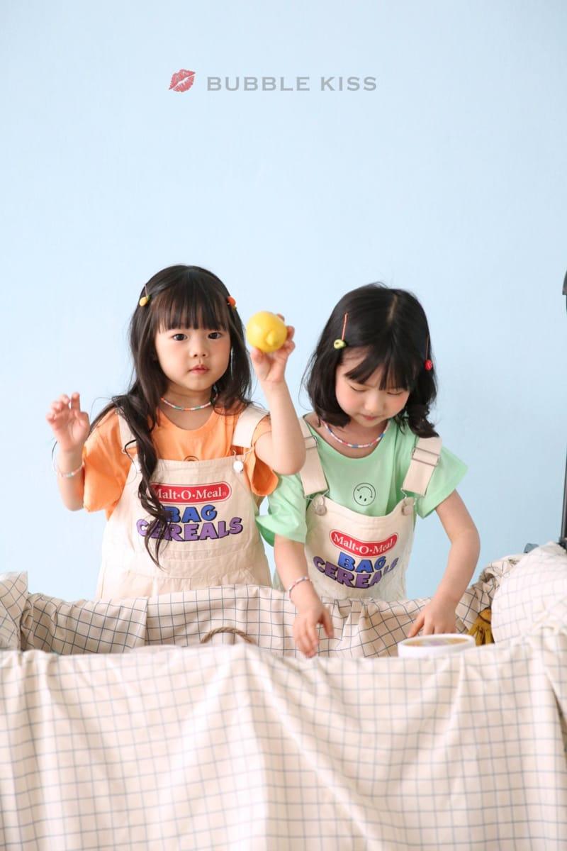 BUBBLE KISS - Korean Children Fashion - #Kfashion4kids - Cereal Dungarees Pants - 10