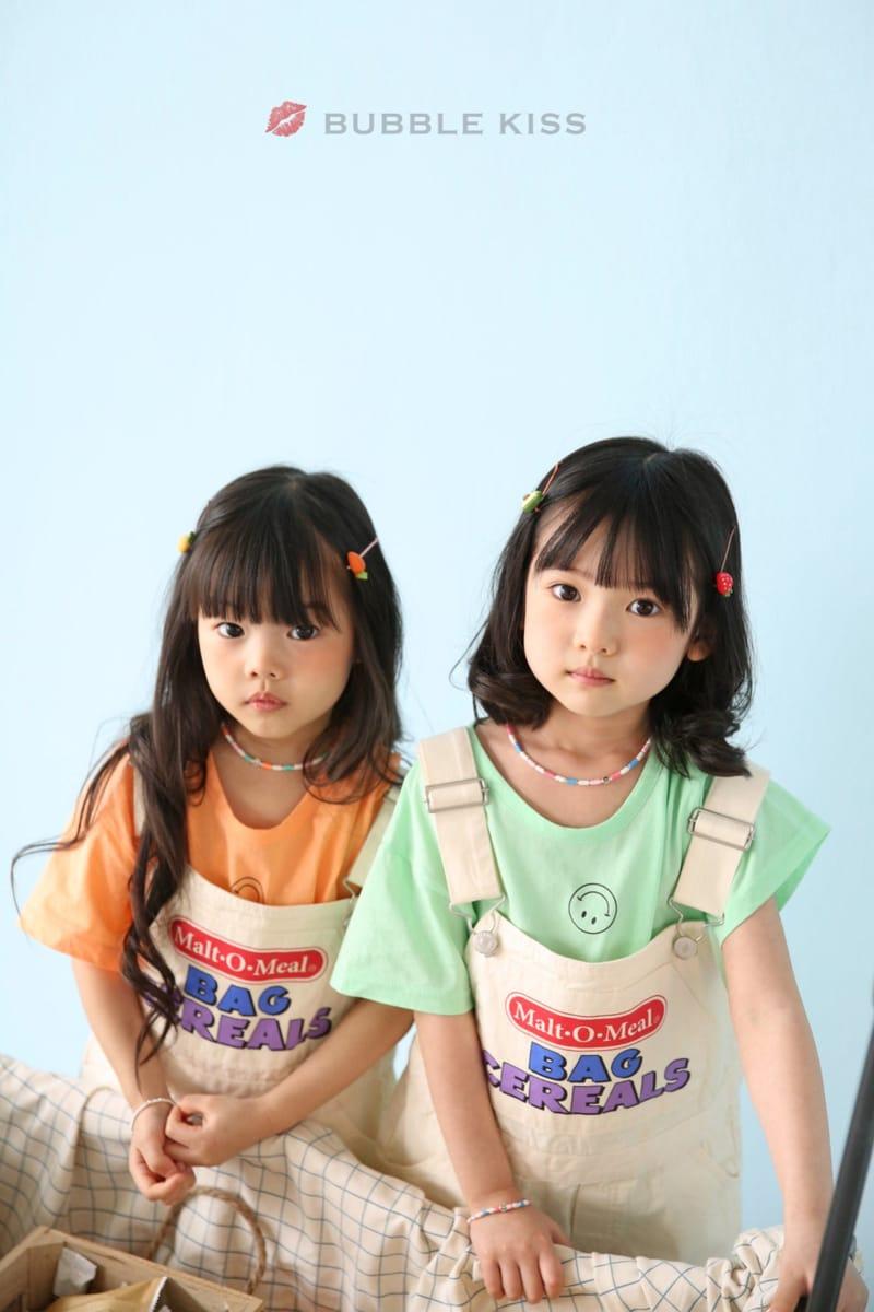 BUBBLE KISS - Korean Children Fashion - #Kfashion4kids - Cereal Dungarees Pants - 12