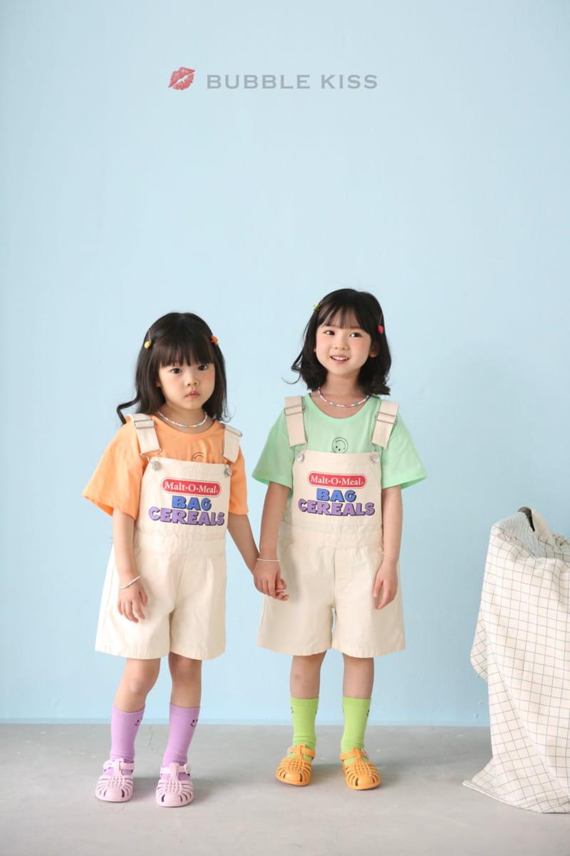 BUBBLE KISS - Korean Children Fashion - #Kfashion4kids - Cereal Dungarees Pants - 2