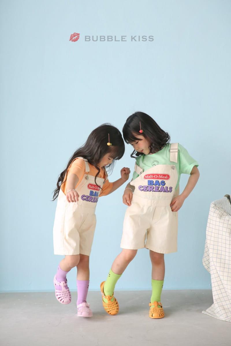 BUBBLE KISS - Korean Children Fashion - #Kfashion4kids - Cereal Dungarees Pants - 3