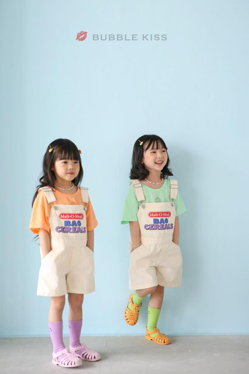 BUBBLE KISS - Korean Children Fashion - #Kfashion4kids - Cereal Dungarees Pants - 4
