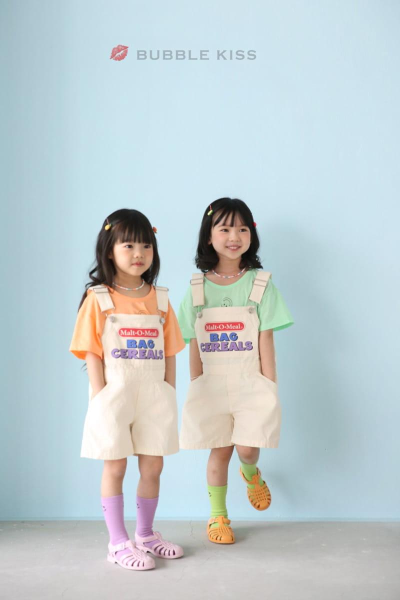 BUBBLE KISS - Korean Children Fashion - #Kfashion4kids - Cereal Dungarees Pants - 5