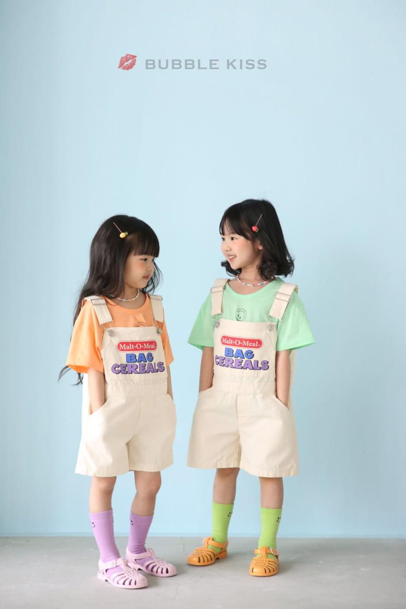 BUBBLE KISS - Korean Children Fashion - #Kfashion4kids - Cereal Dungarees Pants - 6