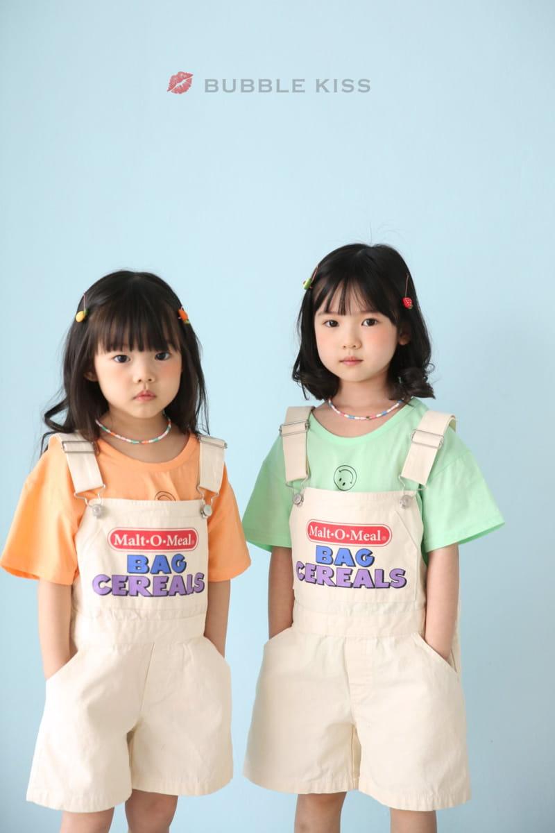 BUBBLE KISS - Korean Children Fashion - #Kfashion4kids - Cereal Dungarees Pants - 8