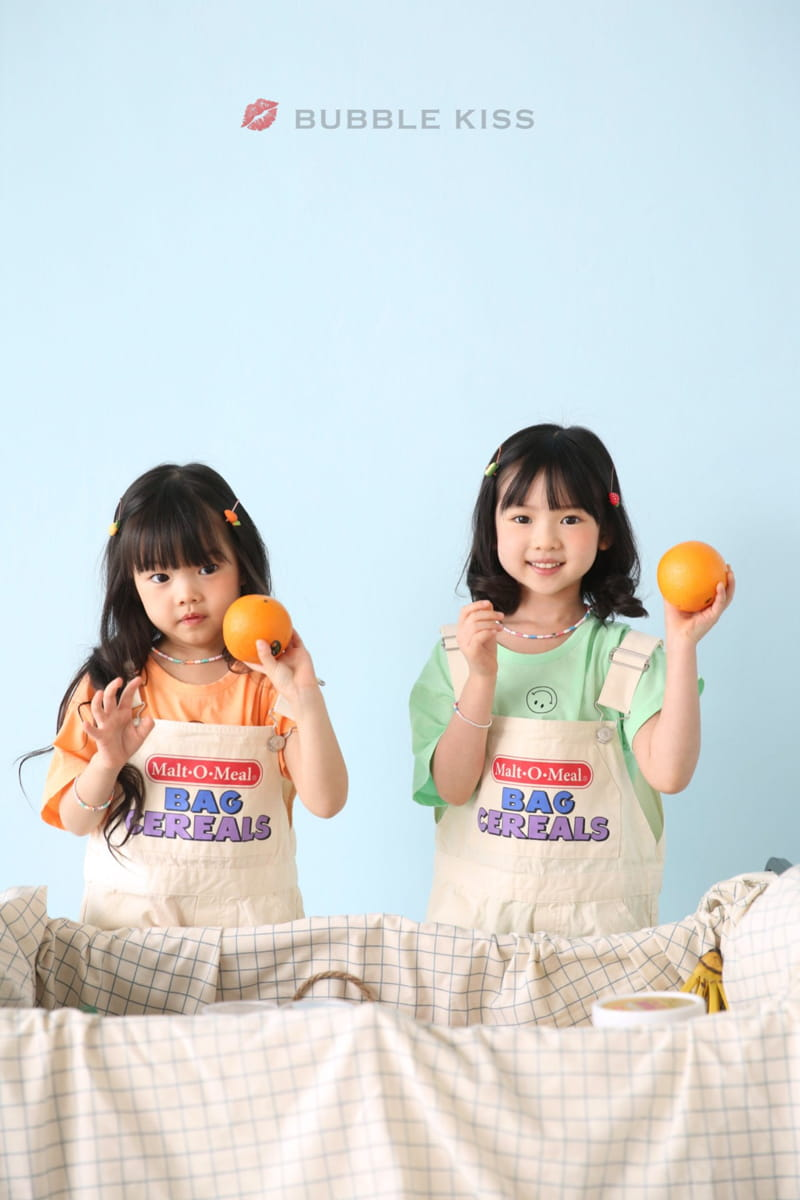 BUBBLE KISS - Korean Children Fashion - #Kfashion4kids - Cereal Dungarees Pants - 9