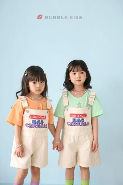 BUBBLE KISS - BRAND - Korean Children Fashion - #Kfashion4kids - Cereal Dungarees Pants