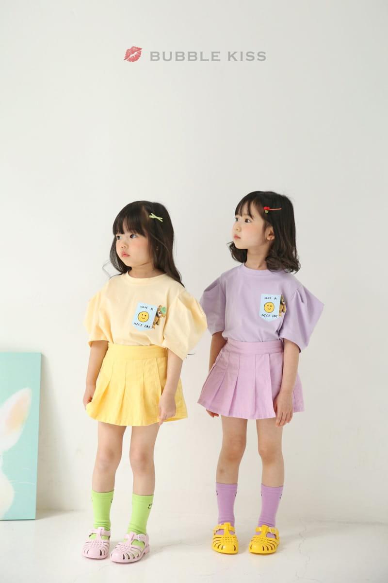 BUBBLE KISS - Korean Children Fashion - #Kfashion4kids - Teddy Bear Puff Tee