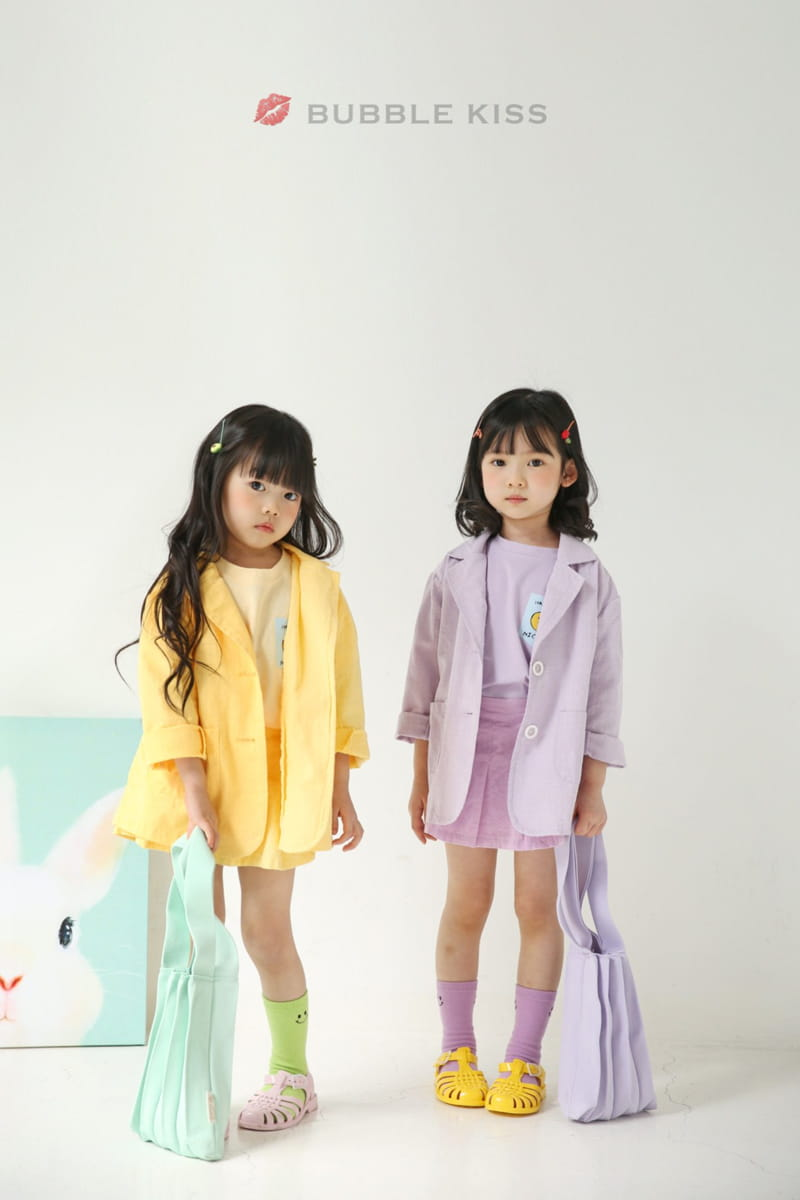 BUBBLE KISS - Korean Children Fashion - #Kfashion4kids - Teddy Bear Puff Tee - 12