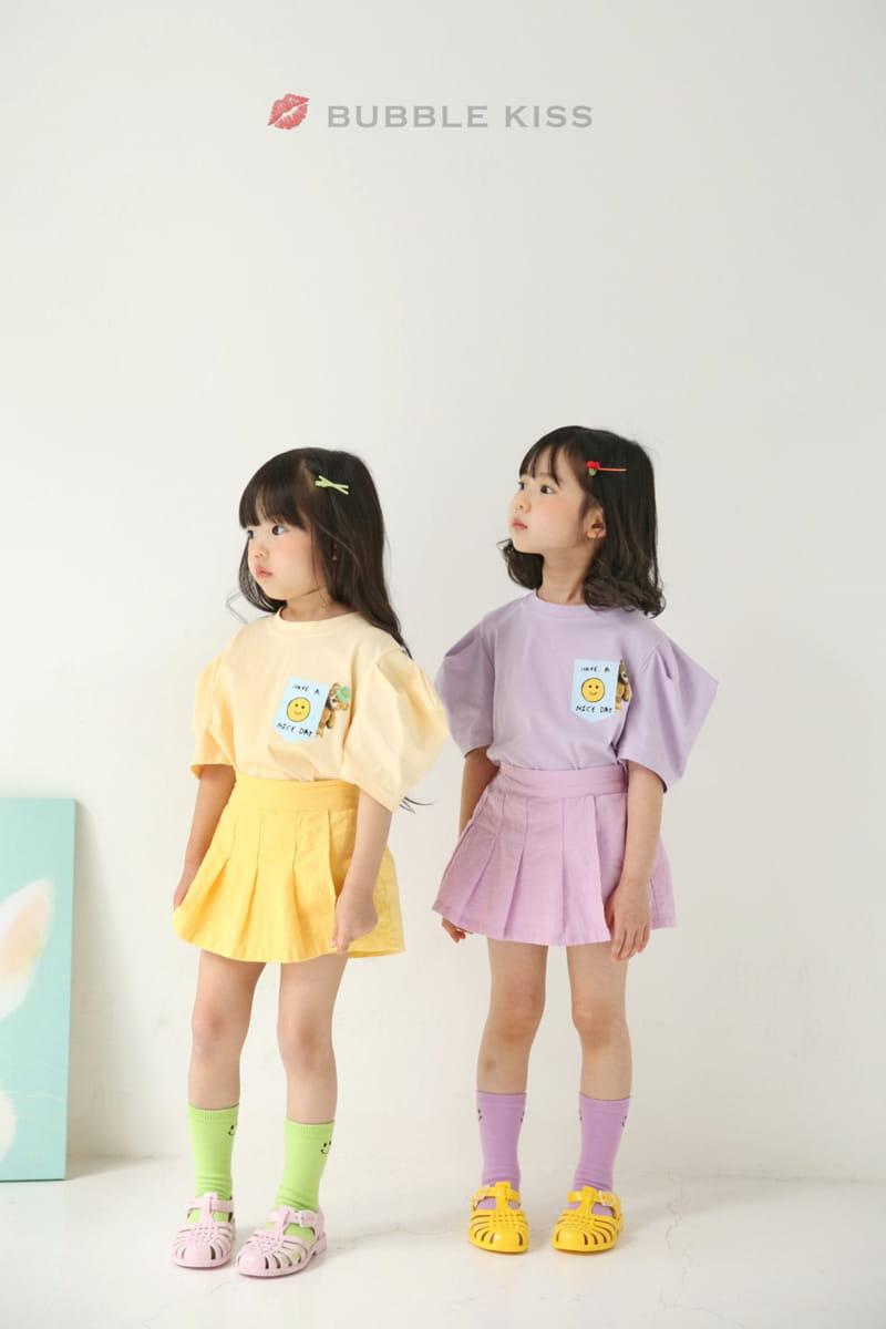 BUBBLE KISS - Korean Children Fashion - #Kfashion4kids - Teddy Bear Puff Tee - 2