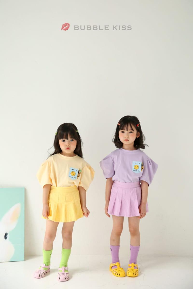 BUBBLE KISS - Korean Children Fashion - #Kfashion4kids - Teddy Bear Puff Tee - 4